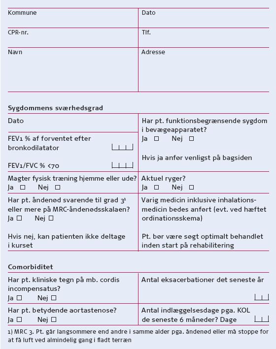 flx kliniske vejledninger kol i almen praksis kol klassifikation